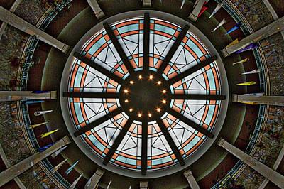 Photograph - New Mexico Capitol Skylight by Stuart Litoff