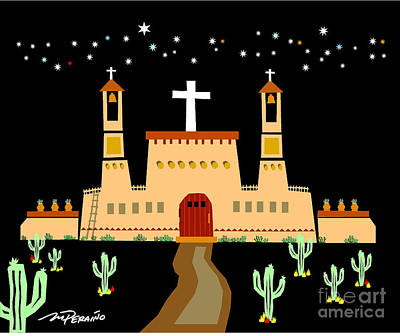 New Mexico Church In The Desert Original by Michael Peraino