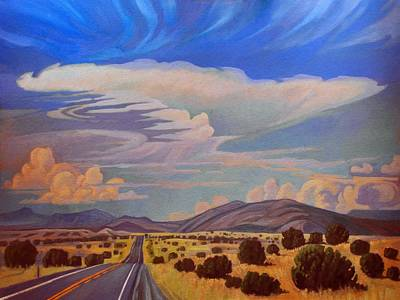Art Print featuring the painting New Mexico Cloud Patterns by Art James West