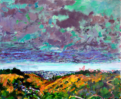 Painting - New Mexico Clouds Over L. A. by Zolita Sverdlove