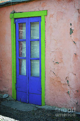 Photograph - New Mexico Colorful Old Door by Andrea Hazel Ihlefeld