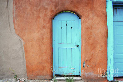 Photograph - New Mexico Colorful Town Blue Doors by Andrea Hazel Ihlefeld
