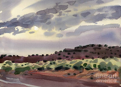 Skyscape Painting - New Mexico Evening by Donald Maier