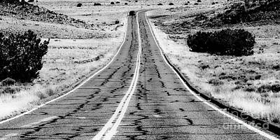 Photograph - New Mexico Highway Bw by Tim Richards