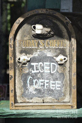 Photograph - New Mexico Iced Coffee Sign by Andrea Hazel Ihlefeld