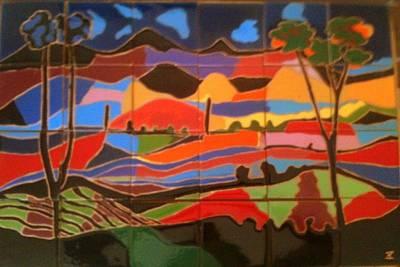 New Mexico Landscape Art Print by Yana Yatsyk