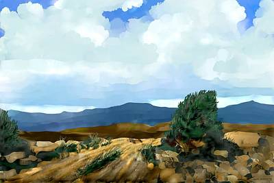Digital Art - New Mexico Morning I by Kerry Beverly