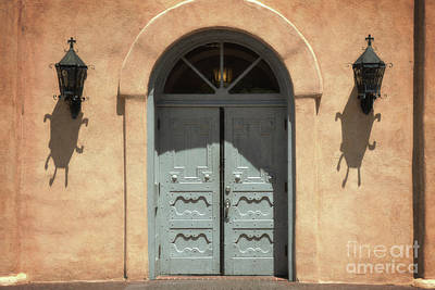 Framed Old Town Door Photograph - New Mexico Old Town Church Doors by Andrea Hazel Ihlefeld