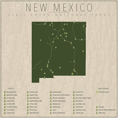 Cavern Digital Art - New Mexico Parks by Finlay McNevin