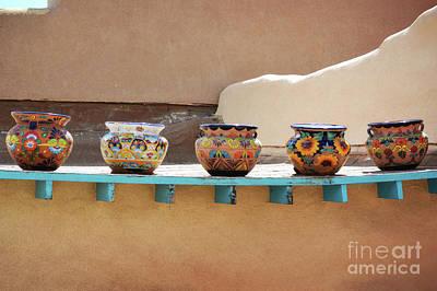 New Mexico Pottery Bowls Art Print by Andrea Hazel Ihlefeld