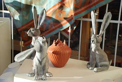New Mexico Rabbits Original by Rob Hans