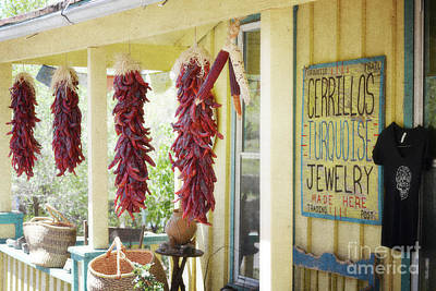 New Mexico Red Chili Porch Print by Andrea Hazel Ihlefeld