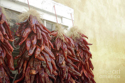Photograph - New Mexico Red Chili Ristras by Andrea Hazel Ihlefeld