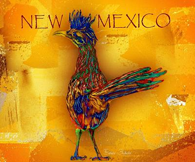 New Mexico Roadrunner Art Print
