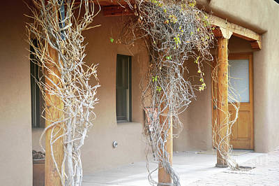 Photograph - New Mexico Rustic Country Porch by Andrea Hazel Ihlefeld