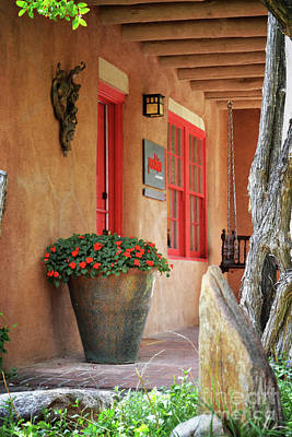 Photograph - New Mexico Rustic Flowers Landscape by Andrea Hazel Ihlefeld