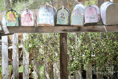 Photograph - New Mexico Rustic Mailboxes by Andrea Hazel Ihlefeld