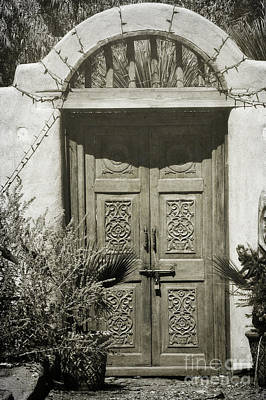 Photograph - New Mexico Rustic Wooden Door Landscape by Andrea Hazel Ihlefeld