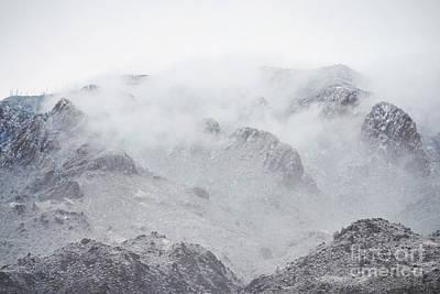 Photograph - New Mexico Sandia Mountains Fog Landscape by Andrea Hazel Ihlefeld