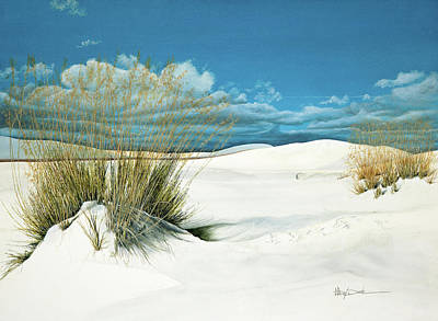 Painting - New Mexico Shifting White Sands Grass by Mary Dove