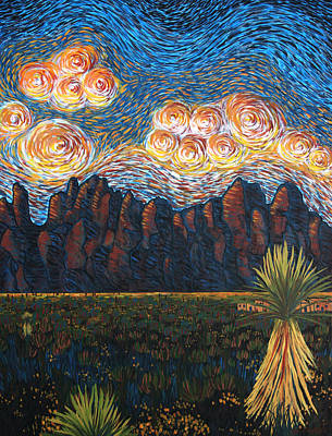 Las Cruces Painting - New Mexico Sunset by Cory Calantropio