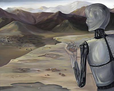Nashville Painting - New Mexico The Automaton Vs. The Existentialist by K Llamas