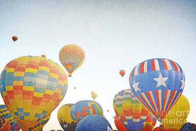 Photograph - New Mexico Vintage Balloons Landscape by Andrea Hazel Ihlefeld