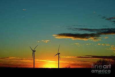 Photograph - New Mexico Windmills At Sunset by David Arment
