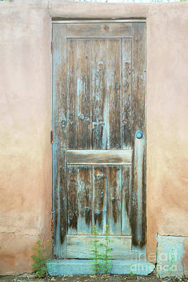 Photograph - New Mexico Wooden Door Colors by Andrea Hazel Ihlefeld