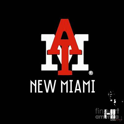 New Miami Red Art Print by HI Level
