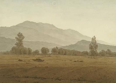 Painting - New Moon Above The Riesengebirge Mountains by Caspar David Friedrich