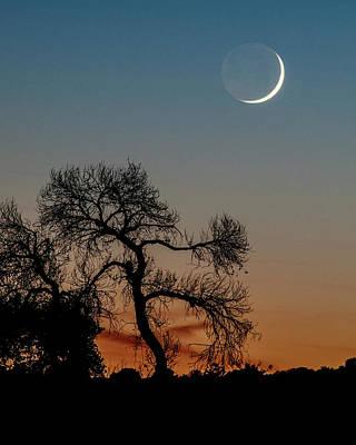 New Moon At Beaver Creek, Arizona, I Art Print by Dave Wilson