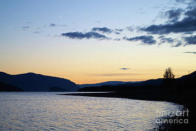 Sunset Photograph - New Moon Rising by Victor K
