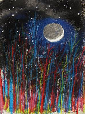 Pastel - New Moon Through Red And Blue by John Williams