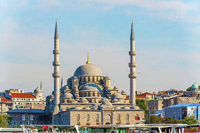 Photograph - New Mosque In Istanbul, Turkey by Marek Poplawski