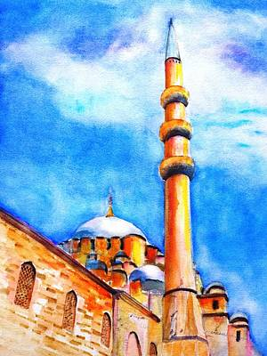 Painting - New Mosque Istanbul by Carlin Blahnik
