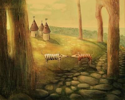 New Neighbours Art Print by Catherine Swenson