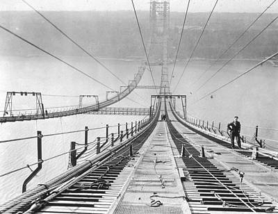 New New York Bridge Art Print by Archive Photos
