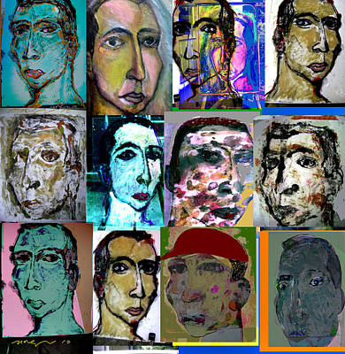 Self-portrait Mixed Media - New Old Identities by Noredin Morgan
