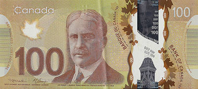 New One Hundred Canadian Dollar Bill Original