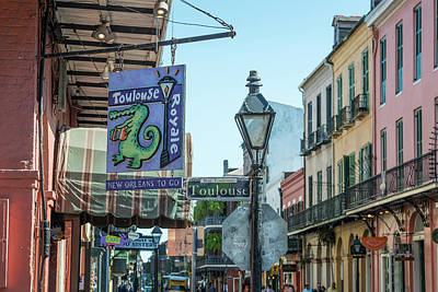 Downtown Digital Art - New Orlean Street Scene On Toulouse by Tod and Cynthia Grubbs