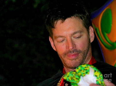 Photograph - New Orleans Actor Harry Connick Jr In Orpheus Parade Lundi Gras by Michael Hoard
