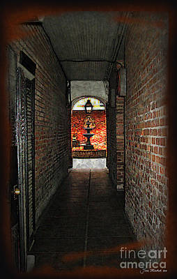 Photograph - New Orleans Alley by Joan  Minchak