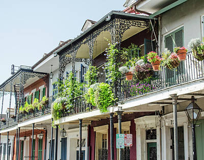 Photograph - New Orleans - Architecture - Balconies by Allen Sheffield