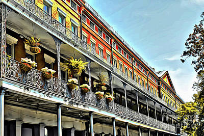 Photograph - New Orleans Balconies by Steven Parker