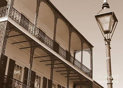 Photograph - New Orleans Balcony With Lamp by Carol Groenen
