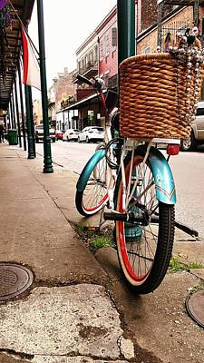 New Orleans Bike Art Print by Jean Franciscy