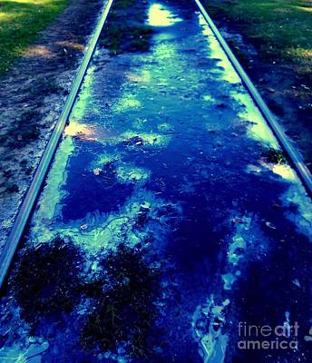 Photograph - New Orleans Blue Ice A Urban Abstract 2 by Michael Hoard
