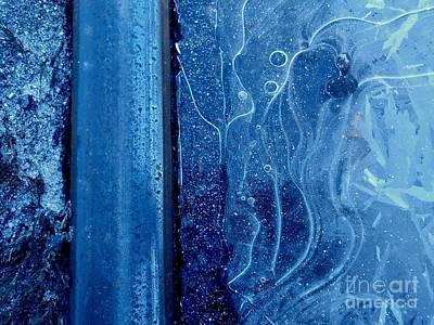 Photograph - New Orleans Blue Ice A Urban Abstract by Michael Hoard