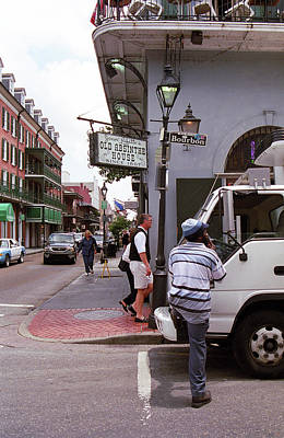 Photograph - New Orleans Bourbon Street 2004 by Frank Romeo